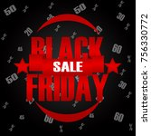 black friday sale in red color... | Shutterstock . vector #756330772