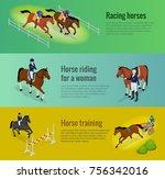 isometric web equestrian...   Shutterstock .eps vector #756342016
