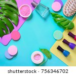hands and nails cosmetics and...   Shutterstock . vector #756346702