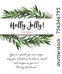 vector greeting card  invite... | Shutterstock .eps vector #756346795