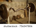 bodybuilding gym fitness | Shutterstock . vector #756347806