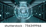 white and blue firewall... | Shutterstock . vector #756349966