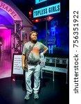 Small photo of LAS VEGAS, USA - SEP 19, 2017: Zach Galifianakis as Alan Garner, Decoration of the Hangover, a 2009 American comedy film, Madame Tussauds wax museum in Las Vegas Nevada.