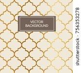 abstract art deco design... | Shutterstock .eps vector #756353278
