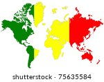 world map background with mali... | Shutterstock . vector #75635584