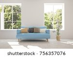 idea of white room with sofa... | Shutterstock . vector #756357076