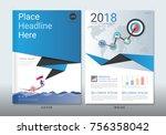 corporate cover book design... | Shutterstock .eps vector #756358042