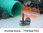 a set of construction items for ... | Shutterstock . vector #756366742