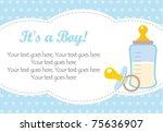 baby boy arrival | Shutterstock .eps vector #75636907