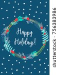 vector christmas greeting card... | Shutterstock .eps vector #756383986