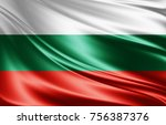 bulgaria flag of silk 3d... | Shutterstock . vector #756387376