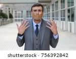 Small photo of Censored businessman unable to express his opinion