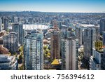 aerial view. highrises from... | Shutterstock . vector #756394612