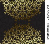 elegant background with lace... | Shutterstock . vector #756402145
