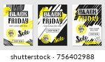 black friday sale advertising.... | Shutterstock .eps vector #756402988