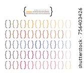 bracket.brace. curly brackets... | Shutterstock .eps vector #756403426