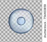 3d blue round human cell... | Shutterstock .eps vector #756403858