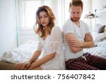 unhappy married couple on verge ... | Shutterstock . vector #756407842