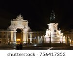triumphal rua augusta arch and... | Shutterstock . vector #756417352