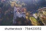 the medieval castle of bran... | Shutterstock . vector #756423352