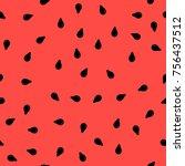 vector fresh sweet natural ripe ... | Shutterstock .eps vector #756437512