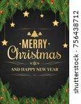 christmas poster. christmas... | Shutterstock .eps vector #756438712