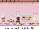 candy bar | Shutterstock .eps vector #75644332