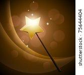 golden magic wand | Shutterstock .eps vector #75644404