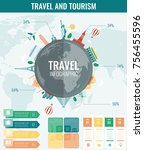 travel and tourism. infographic ... | Shutterstock .eps vector #756455596