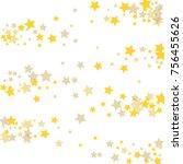 golden scattered chaotically...   Shutterstock .eps vector #756455626
