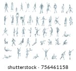 set hand drawn sketch of... | Shutterstock . vector #756461158