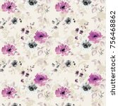 flowers pattern.for textile ... | Shutterstock . vector #756468862