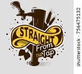 draft beer tap artistic cartoon ... | Shutterstock .eps vector #756475132