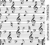 music sign notes vector... | Shutterstock .eps vector #756485626