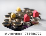 close up of small different... | Shutterstock . vector #756486772