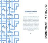 plumbing service  background... | Shutterstock .eps vector #756487042