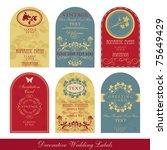vintage label set | Shutterstock .eps vector #75649429
