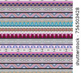 tribal colorful pattern with... | Shutterstock .eps vector #756503428