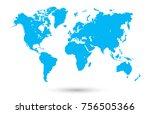 world map vector | Shutterstock .eps vector #756505366