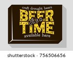 beer time typographic sign...