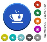 cup of tea with teabag round... | Shutterstock .eps vector #756507052