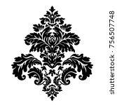 vintage baroque frame scroll...   Shutterstock . vector #756507748
