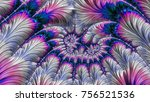 an abstract computer generated... | Shutterstock . vector #756521536