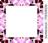 rectangular frame of colorful... | Shutterstock . vector #756528256