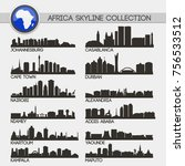 most famous africa cities... | Shutterstock .eps vector #756533512