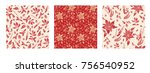 holiday seamless pattern.... | Shutterstock .eps vector #756540952
