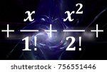 math equations and formulas in... | Shutterstock . vector #756551446