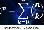 math equations and formulas in... | Shutterstock . vector #756551452
