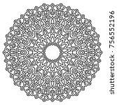 delicate snowflake. adult... | Shutterstock .eps vector #756552196