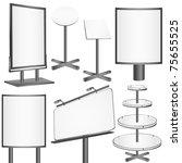 blank display  billboard vector ... | Shutterstock .eps vector #75655525